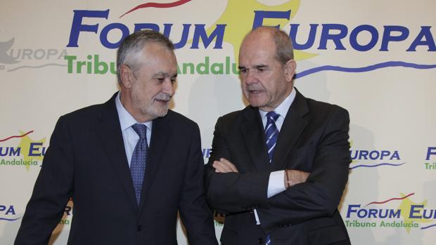 José Antonio Griñán y Manuel Chaves, en una imagen de archivo