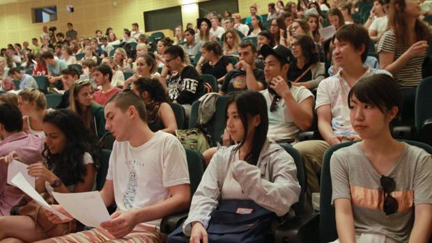Estudiantes Erasmus en la Universidad Pablo de Olavide