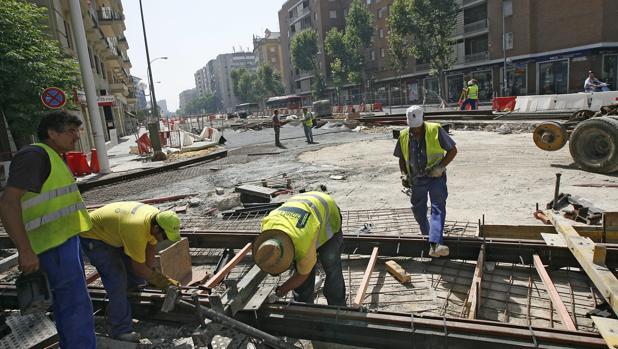 Obras de la línea 1 del Metro de Sevilla