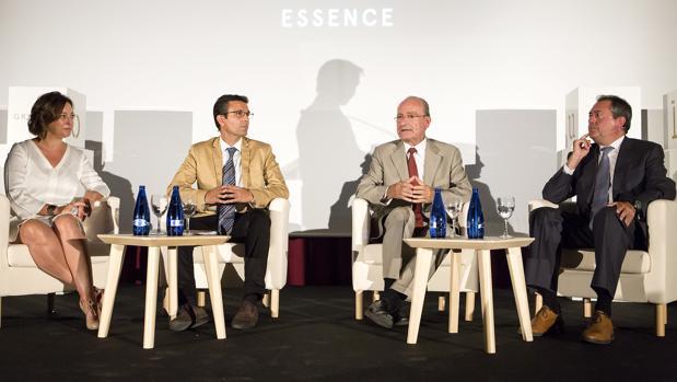 Los alcaldes de Córdoba, Granada, Málaga y Sevilla, ayer en la presentacion de la marca conjunta