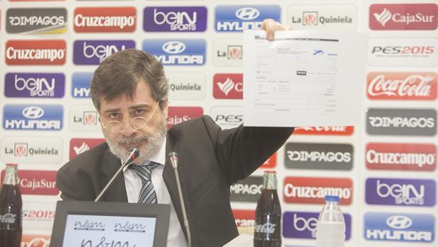 El presidente del Córdoba CF, Carlos González