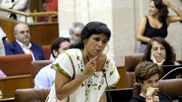 Teresa Rodríguez, portavoz de Podemos en el Parlamento