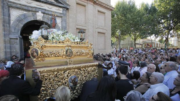 La primera salida procesional de la Fuensanta