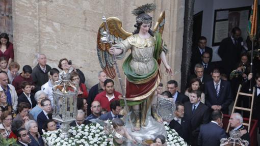 San Rafael, durante su procesión extraordinaria