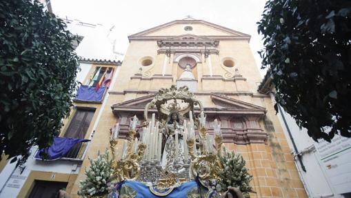 La Virgen del Socorro, durante su procesión