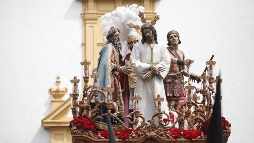 El Señor del Silencio, durante su procesión