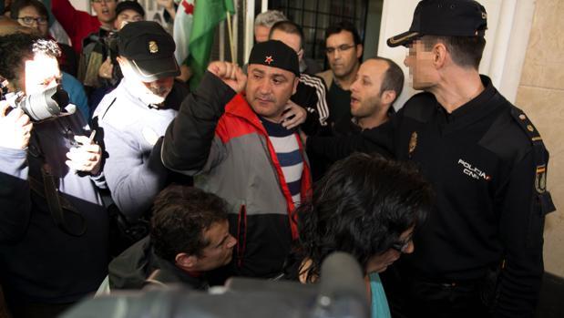 Andrés Bódalo, en el momento de su detención