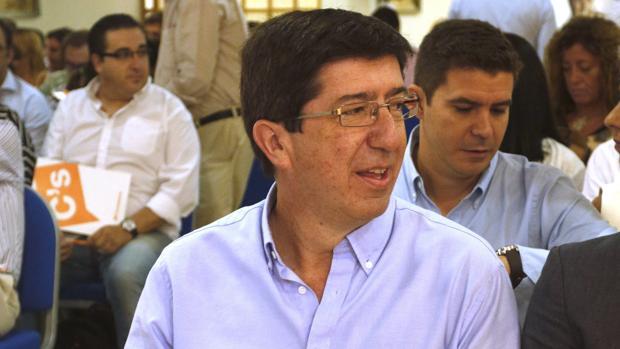 El líder de Ciudadanos Andalucía, Juan Marín, en Almería