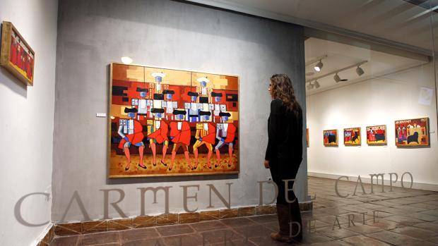 Exposición de temática taurina de Mariano Aguayo en la galería Carmen del Campo