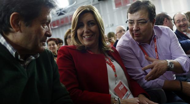 Vara, Díaz y Fernández, charlan en el comité federal en diciembre pasado
