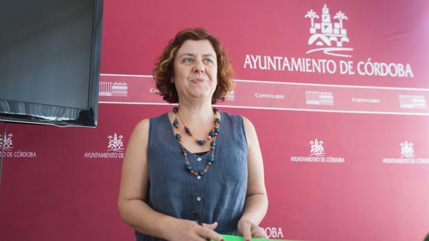 Alba Doblas, en una comparecencia