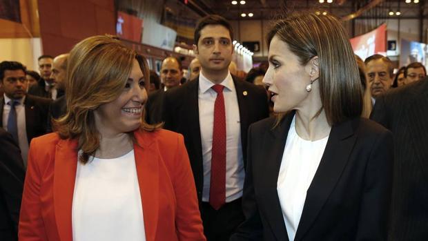 Susana Díaz y la Reina Letizia en Fitur el pasado mes de enero