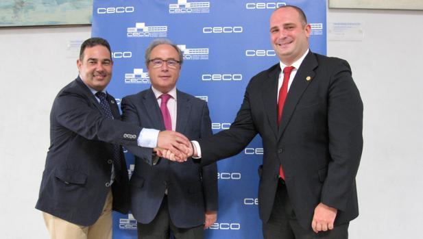 Responsables de CECO y BNI en la firma del acuerdo de incorporación