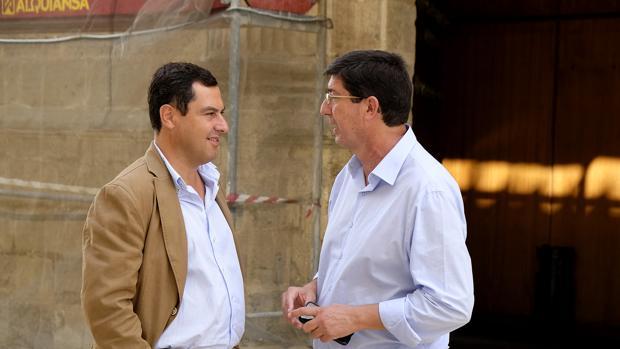La postura de los partidos ante el encuentro Juanma Moreno-Juan Marín