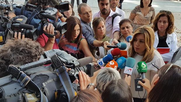 La presidenta de la Junta, Susana Díaz, este miércoles en Sevilla