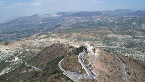 Vista del santuario de Aras