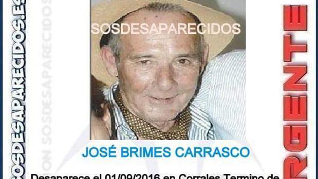 Detalle del cartél de Búsqueda de José Brimes Carrasco