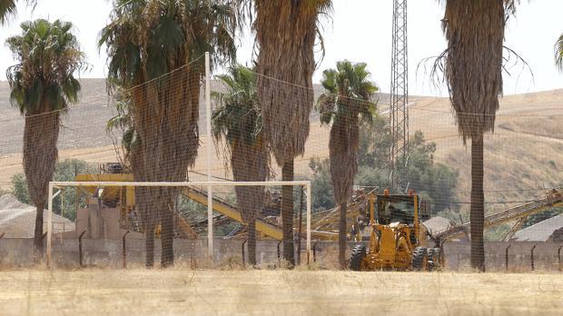 Imagen de la Ciudad Deportiva Rafael Gómez durante las obras de este mes