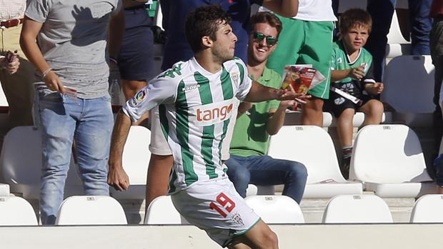 Guille Donoso durante la celebración de su gol contra el Levante