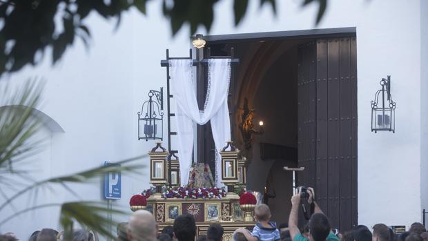 El paso, a su salida de San Basilio