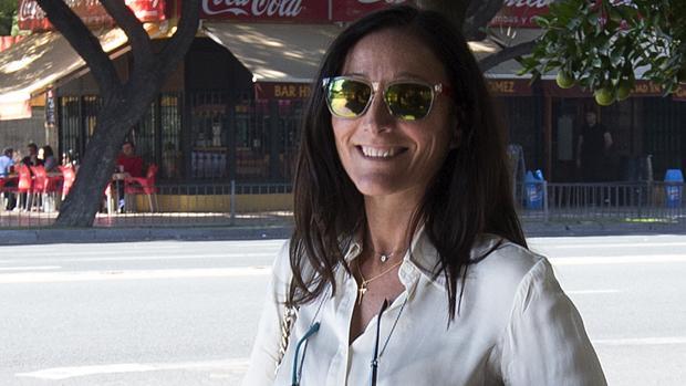La juez María Núñez, a la salida de los Juzgados