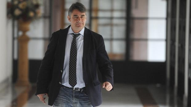 El portavoz de Podemos en la comisión de investigación de los cursos, Juan Ignacio Moreno Yagüe