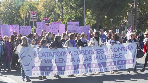 Manifestación contra la violencia machista en Córdoba