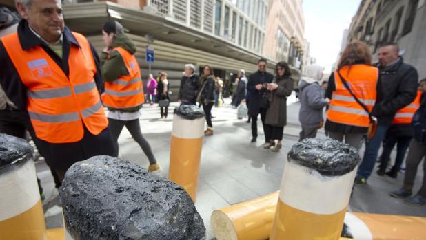 Campaña para no tirar colillas en la calle
