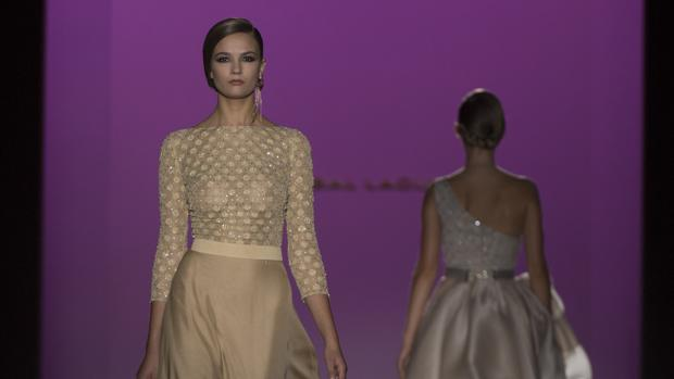 Desfile de Hannibal Laguna en la Madrid Fashion Week