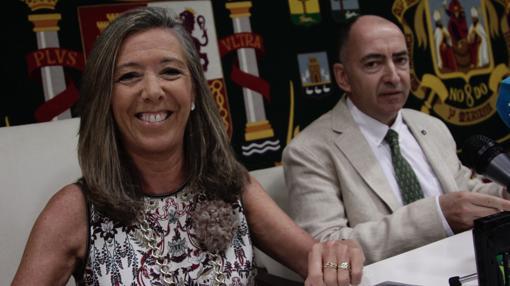 Felisa Panadero y Juan de Dios Soriano, este miércoles en rueda de prensa