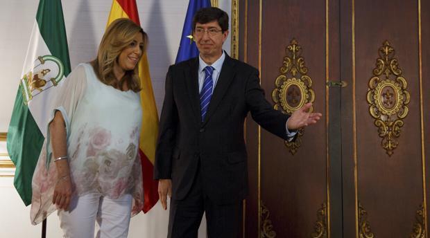 Ciudadanos posibilitó la investidura de Susana Díaz