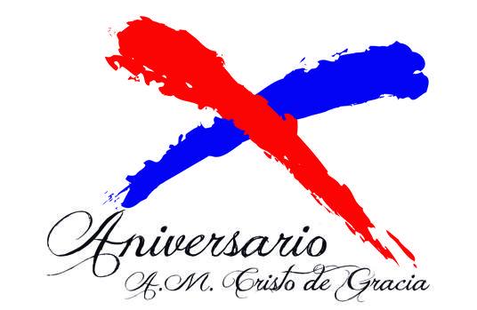 Logotipo del X aniversario de la Agrupación Musical Santísimo Cristo de Gracia
