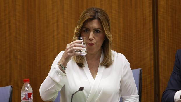 Susana Díaz durante su comparecencia en mayo en la comisión de investigación de los cursos de formación