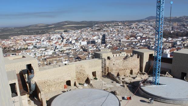 Vista general de Baena desde las alturas del castillo