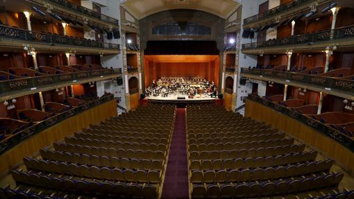 Ensayo de la Orquesta de Córdoba en el Gran Teatro