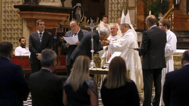 Jura de cargos de la Agrupación en la Catedral