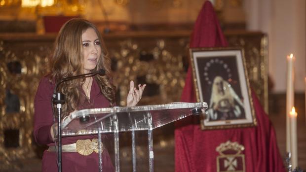 Mercedes Delgado, durante su pregón de juventud en 2015