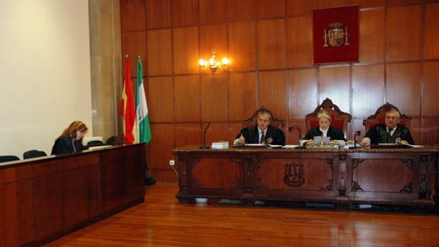 Celebración de un juicio en una de las salas de la Audiencia Provincial de Jaén