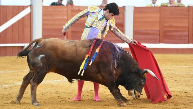 López Simón, en un momento de la tarde de ayer en Pozoblanco