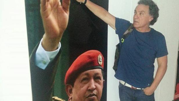José Antonio Núñez Montegordo, en uno de sus viajes a Venezuela