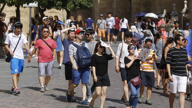 Turistas japoneses en Córdoba
