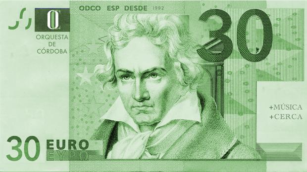 Billete promocional de esta campaña de la Orquesta de Córdoba