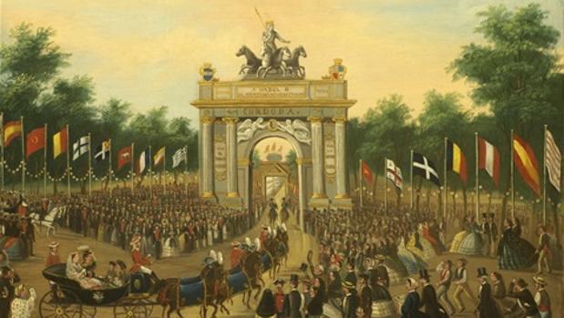 Arco de bienvenida a Isabel II a su entrada en Córdoba
