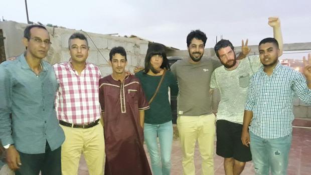 Los jóvenes cordobeses, durante su estancia en el Sáhara