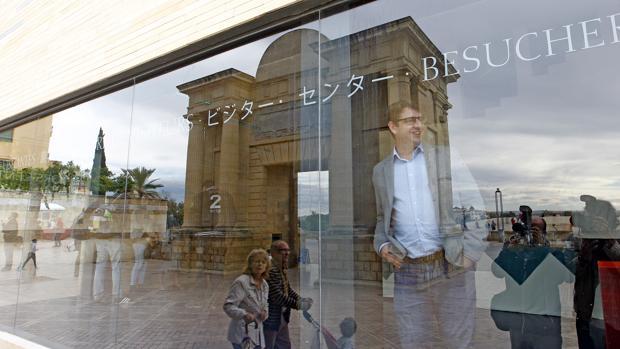 Pedro García en el Centro de Recepción de Visitantes