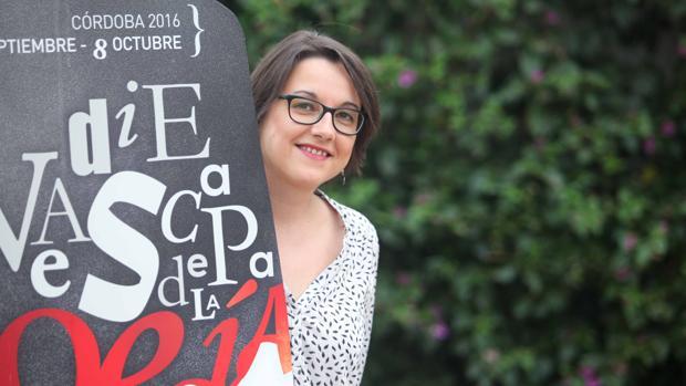 La poeta madrileña Marta López Vilar en Córdoba