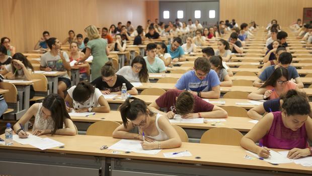 Alumnos cordobeses en la prueba de selectividad de este año
