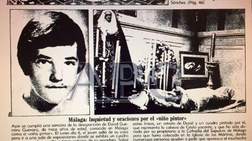David Guerrero, el «niño pintor» de Málaga