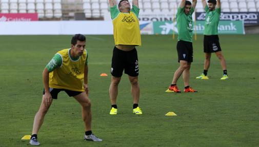 Carlos Caballero, en un entrenamiento