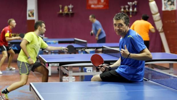 Francisco José Navarro, este jueves en las instalaciones deportivas de La Fuensanta